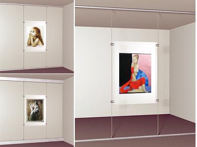 Галерейные подвесные системы для картин Дисплей-Ит
